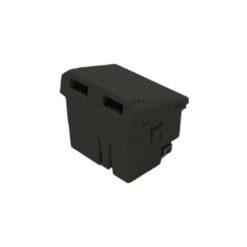 101215 - 7958-USB-DOBLE-OCUPA-2-MODULOS-GRIS