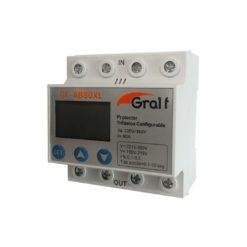 104192 - Protector de Tension Trifasico Configurable con voltimetro y neutro - GRALF