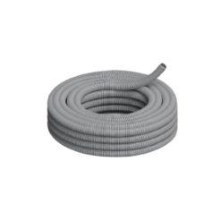 32628 - caño corrugado semipesado pvc gris genrod 11.2