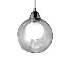 102576 colgante pompas 1l g9 transparente base redonda cromo d.15mm