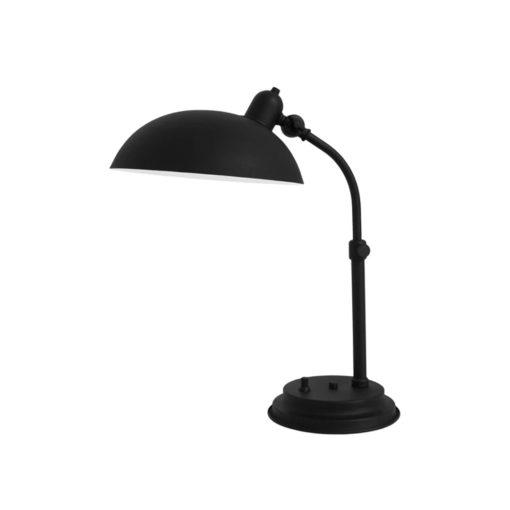 103920 lampara de mesa odin negro texturado diametro 26