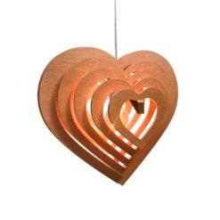 104855 colgante madera fenolico corazon e27 alto 60x66ancho